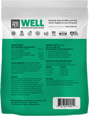 WELL Hip & Joint 120 count soft chews